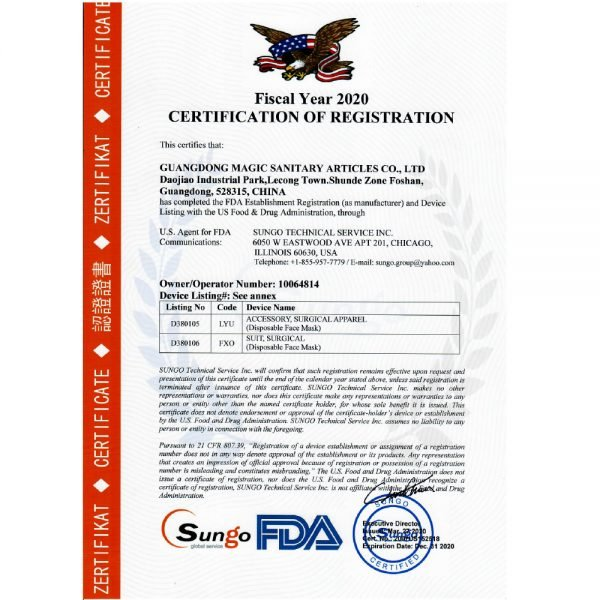 Disposable-Mask-product-Certification